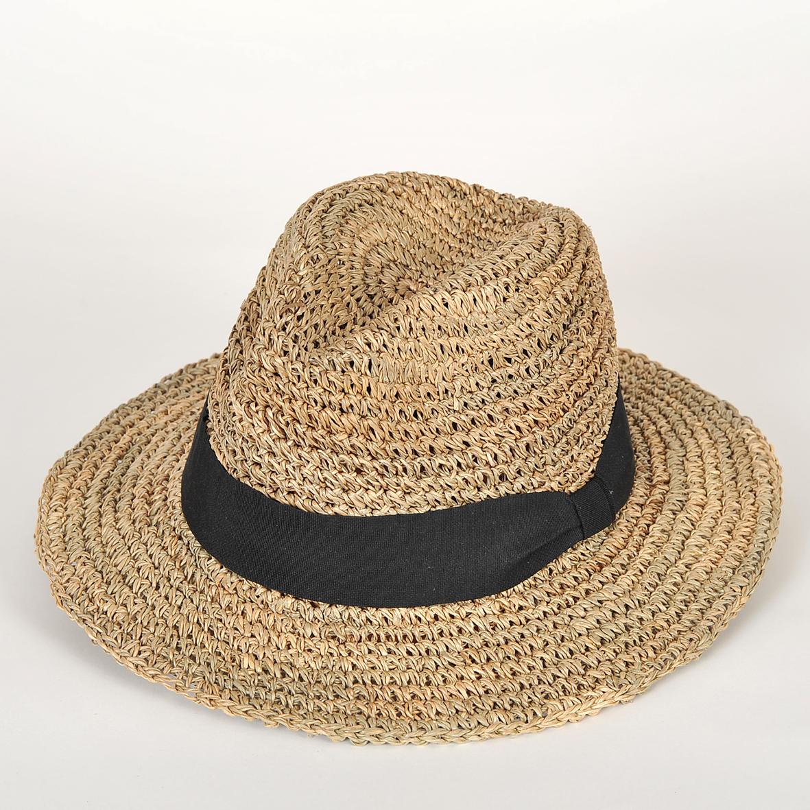 chapeau de paille homme gabrio seagrass crochet l. Black Bedroom Furniture Sets. Home Design Ideas