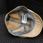 casquette plate oxford crambes 100% lin