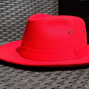 MADE IN FRANCE : CHAPEAU BRISBANE ROUGE DE CRAMBES
