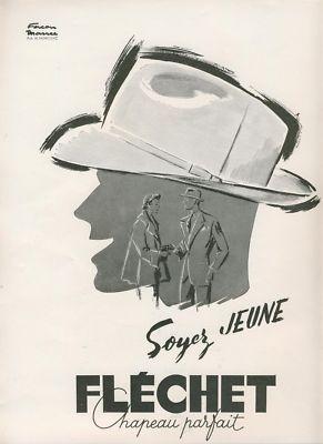 FLECHET CHAPEAU PARFAIT Signée Facon Marrec 1951